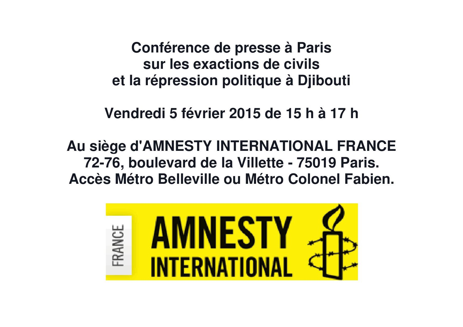 Conférence de presse à Paris
