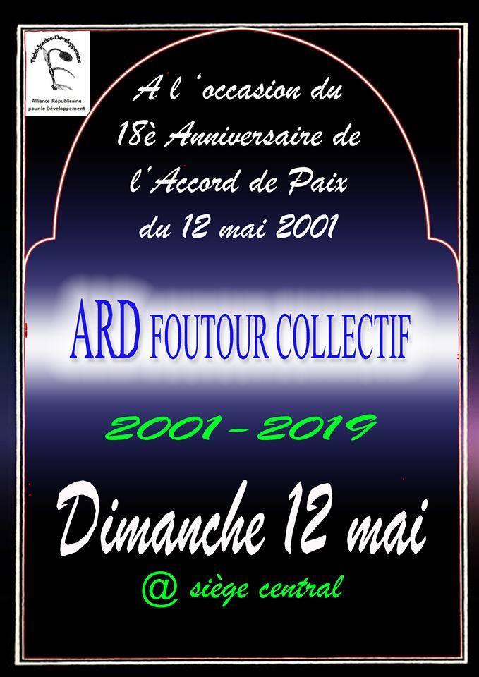 A l'occasion du 18e anniversaire de l'Accord de Paix du 12 mai 2001, foutour collectif de l'ARD (12-05-19)